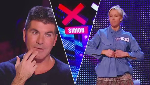 Cowell got amazed with Graham's performance.