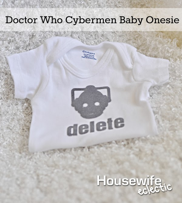 Housewife Eclectic: Doctor Who Cybermen Baby Onesie