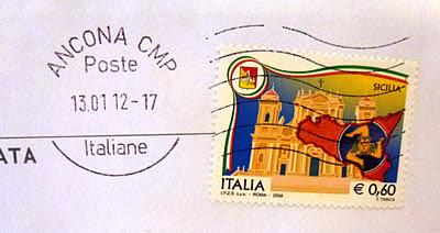 Francobollo dedicato alla Sicilia