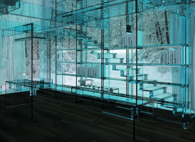 """مجموعة العجائب ل (zein alabdeen) تقدم لكم (البيت الزجاجي """" لا مكان للأختباء من الجيران '' جدران زجاج Santambrogio-glass-house-cube-6-1"""