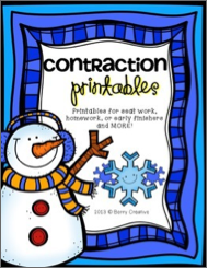 http://www.teacherspayteachers.com/Product/Contraction-Printables-WInter-Themed-1046143