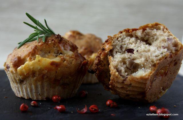 sajtos-rozmaringos muffin
