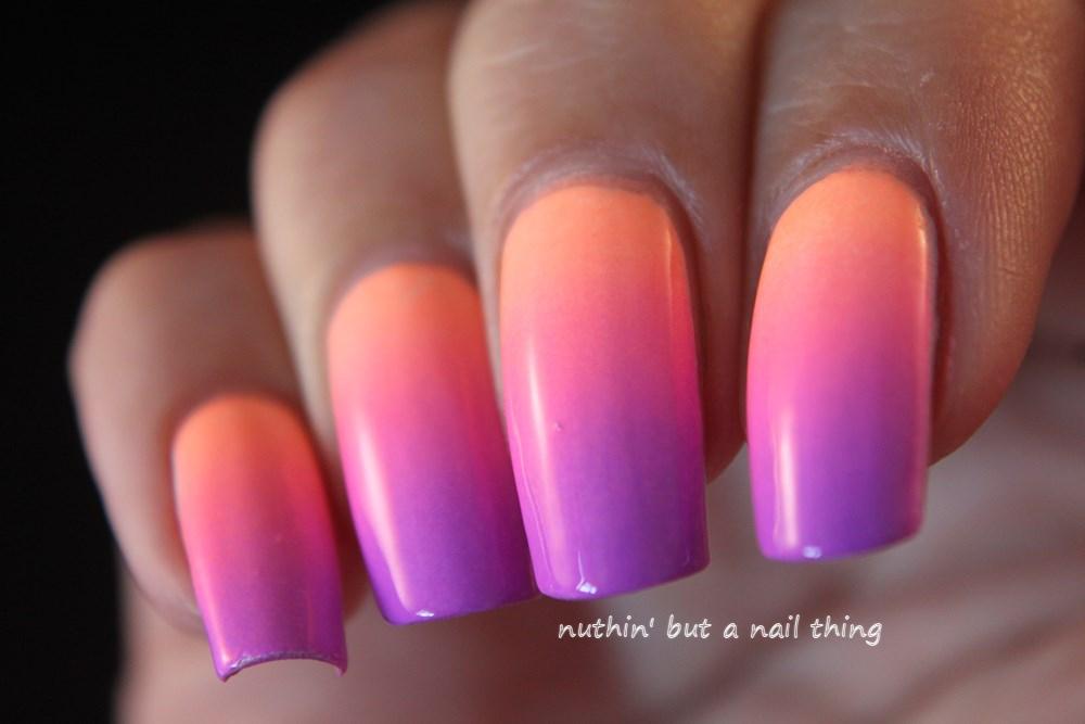 Pastel neon gradient nail art
