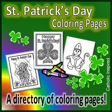 here is a list of some great st patricks day coloring pages a few of them are from us here at catholic inspired others have a link to another website - St Patrick Coloring Page Catholic
