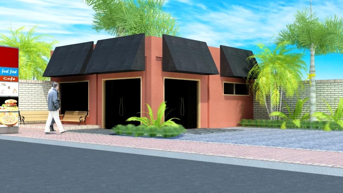 Arquitectura local fast food for Fachadas de locales de comida rapida