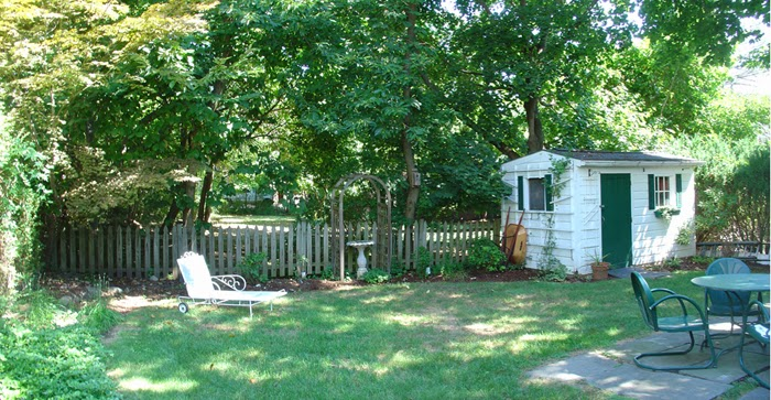 backyard view of house for sale in Nyack