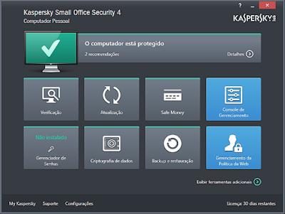 ANTIVÍRUS KASPERSKY SMALL OFFICE SECURITY 4