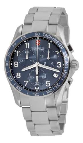 Victorinox Swiss Army Men's 241120 Classic Chronograph Blue Dial Watch