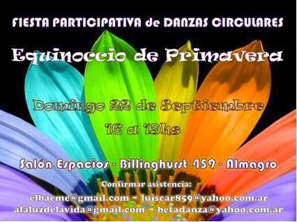Fiesta Participativa de Danzas Circulares- 22 de Septiembre - 2013