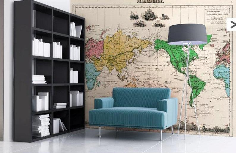 Esdesign wallpaper wednesday world maps for Room design map