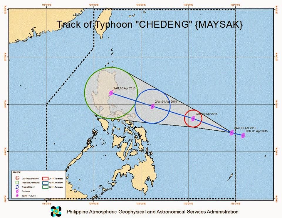 Typhoon Chedeng track Maysak