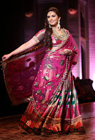 Huma Qureshi looks Stunning in Designer Saree by Ashima Leena at AVBFM 2013
