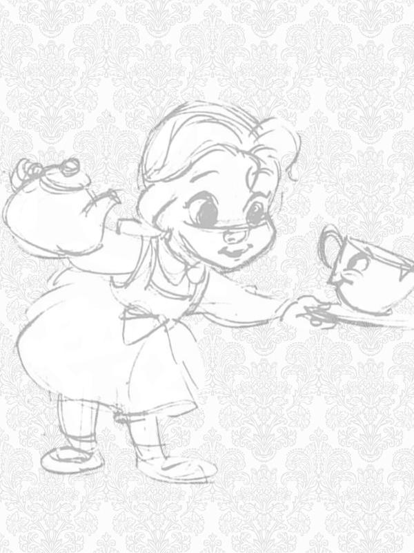 Princesas Disney Bocetos de las