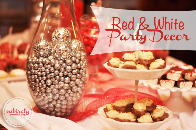 Red and white party decorations entirely eventful day - Red and white decorations ...