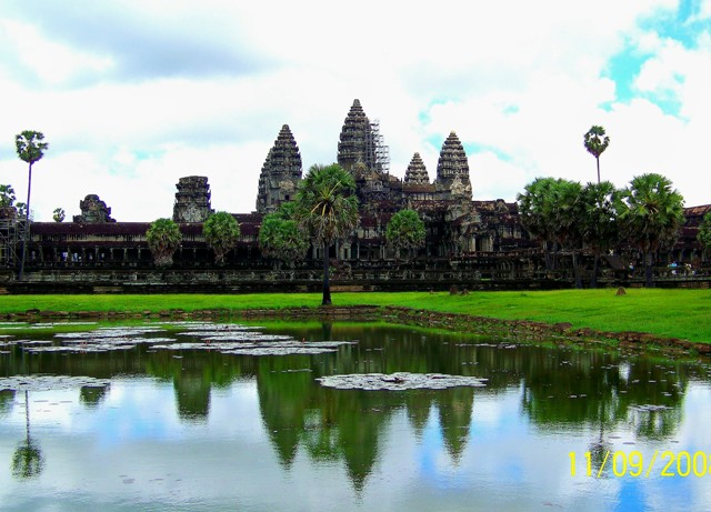 Templo de Angkor wat a vista de pájaro