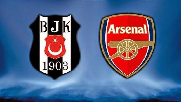 Beşiktaş ilk 11 Arsenal ilk 11.. 19 Ağustos 2014 Şampiyonlar Ligi Mücadelesi ilk 11'leri..