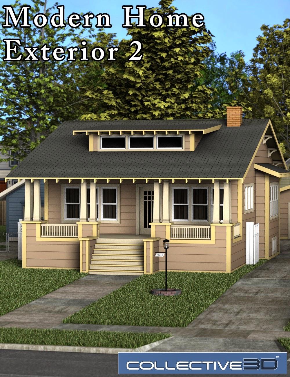Collective3d Modern Home Extérieur 2
