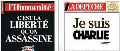 Charlie Hebdo la depeche l'humanite
