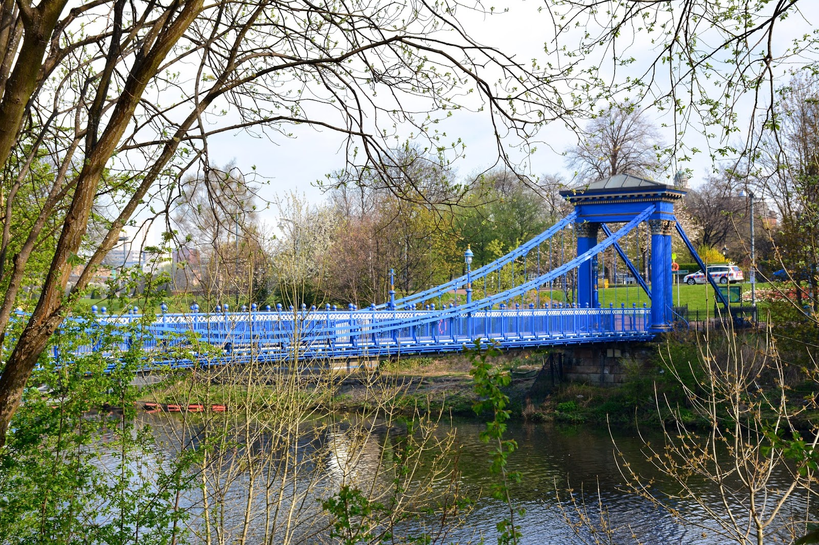St. Andrew's suspension bridge in Glasgow