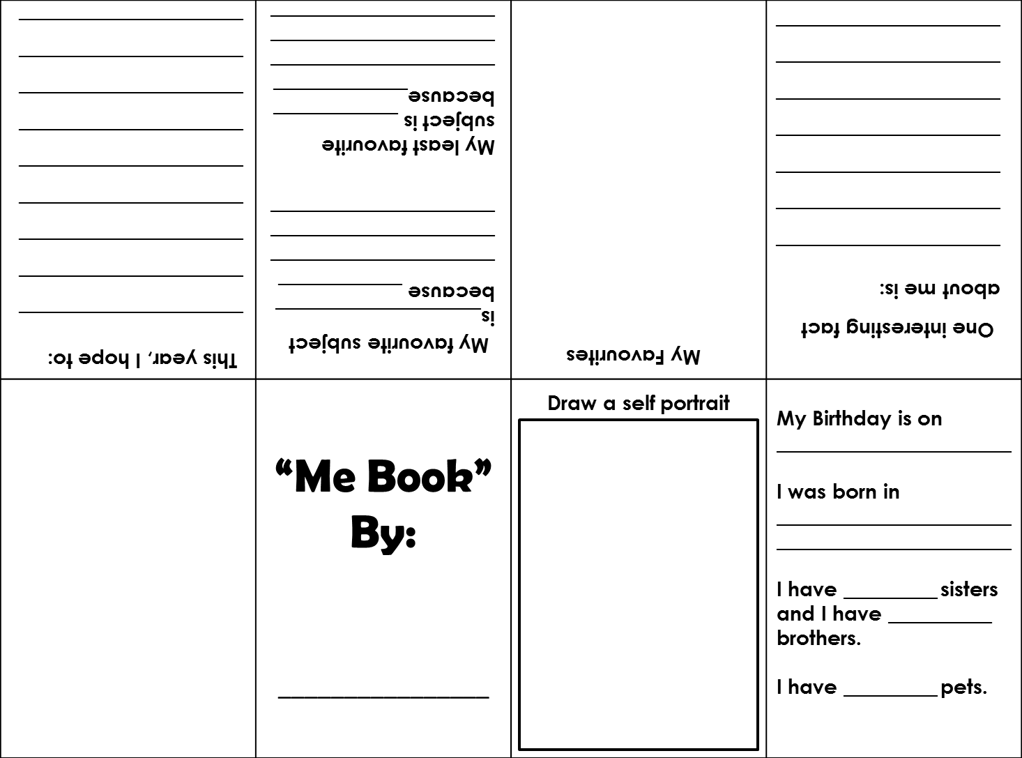 How To Make A Book Yourself ~ One teacher s adventures back to school freebie