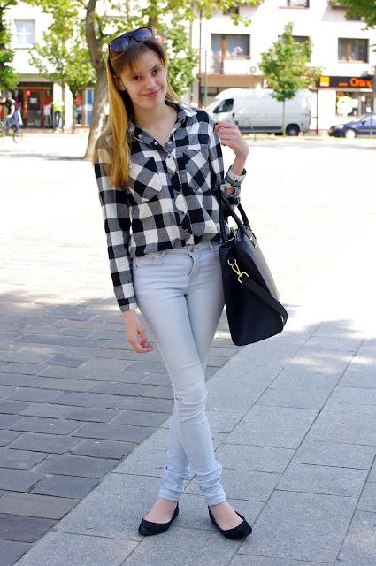 moda, fashion, inspiracje, flanelowa koszula, krata reserved