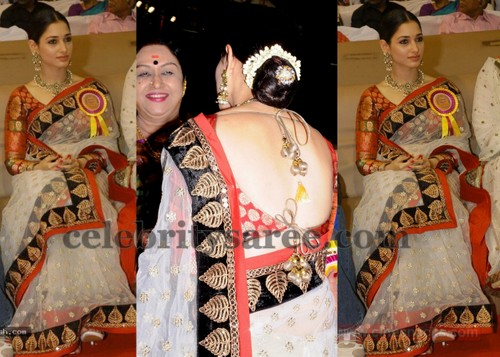 Tamanna's Full Sleeves Backless Blouse