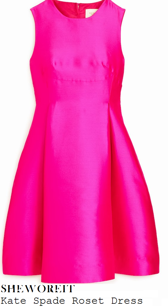 bella-thorne-bright-hot-fuschia-pink-sleeveless-fit-and-flare-prom-dress-winters-tale-premier