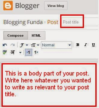 how to give title to your post.