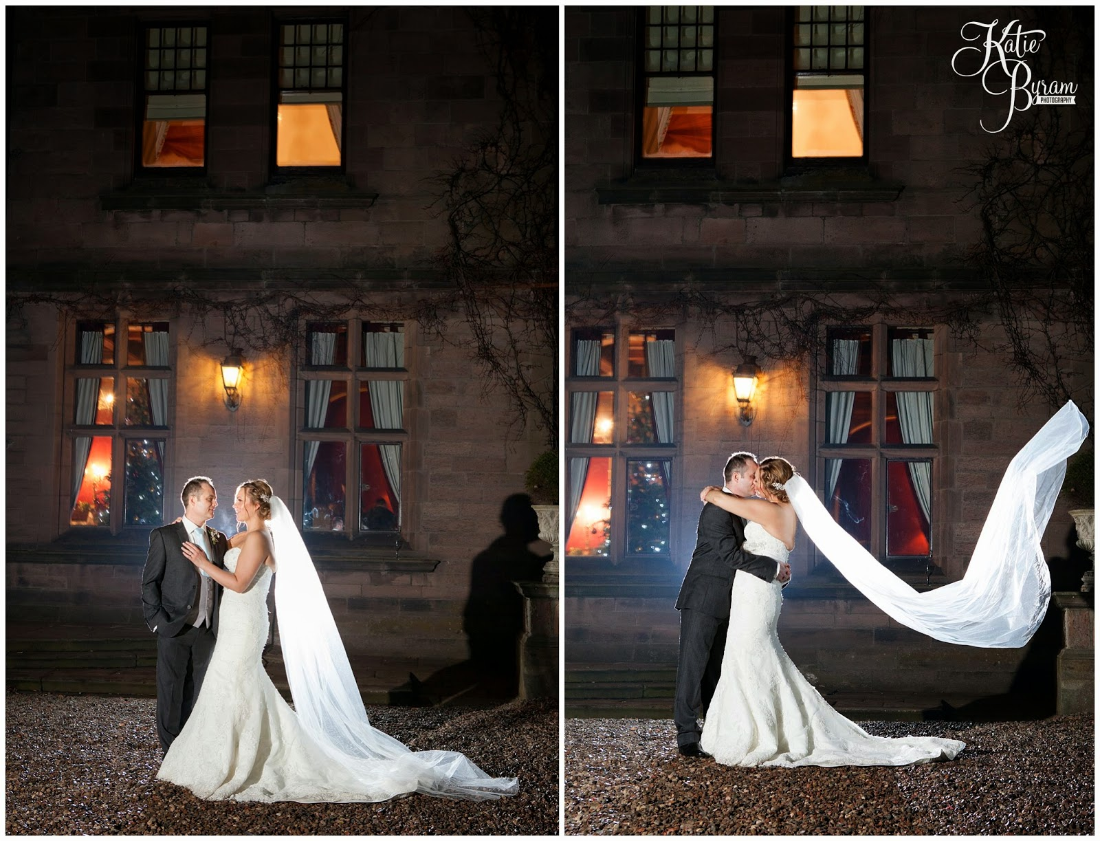 nighttime wedding, ellingham hall wedding, alnwick wedding, katie byram photography, ellingham hall, mia sposa bridal, wedding venues north east, newcastle wedding photographer, ellingham, alnwick treehouse wedding, adam prest flowers, winter wedding, winter wedding theme, by wendy stationery, quirky wedding photography, northumberland wedding, northumberland, dani.mua, dani make up artist, lisa cameron hair