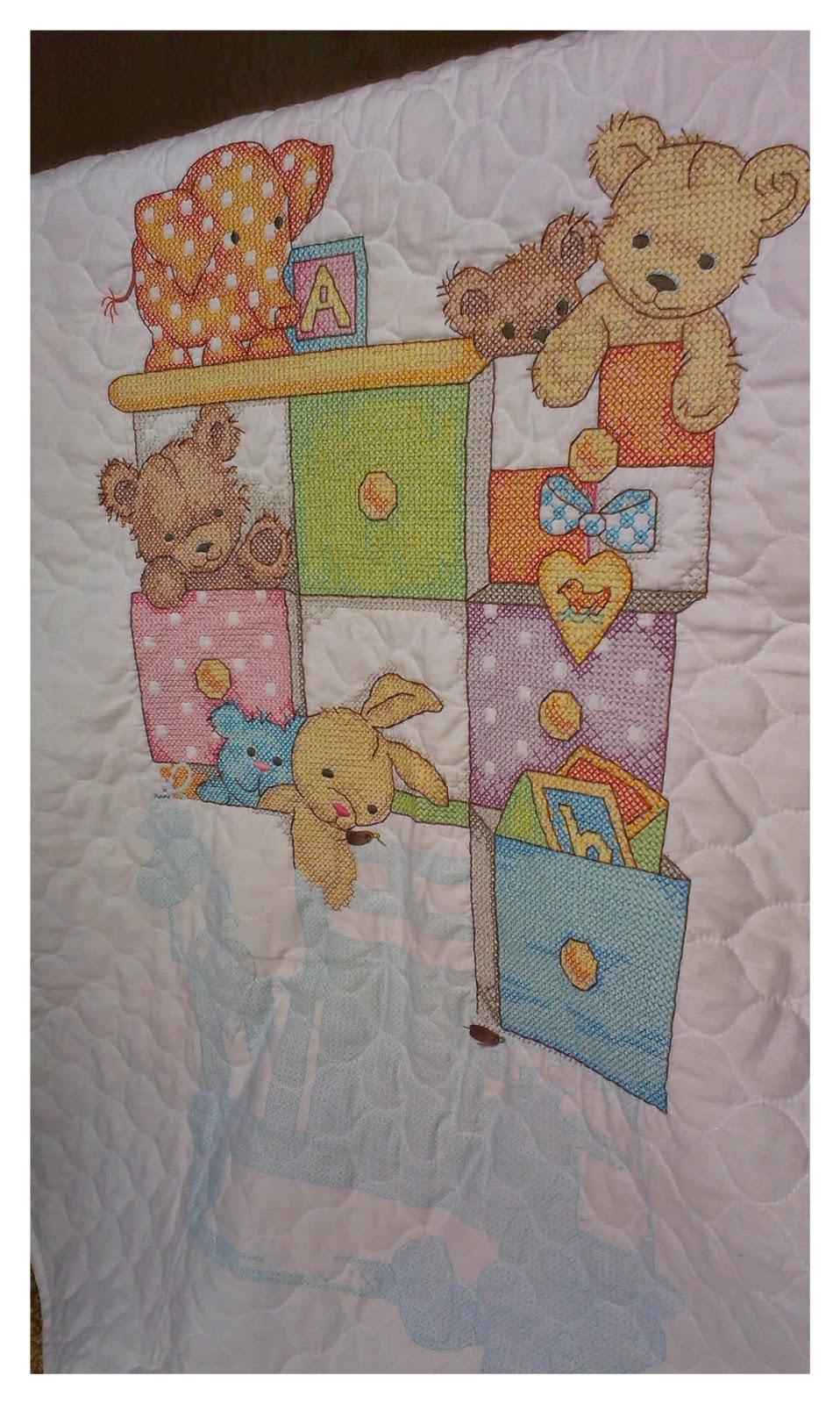 Детские вещички, процесс Dimensions 73537, одеяло от Dimensions