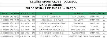 Jogos e Resultados do Fim de Semana de 19  e 20 de Março.