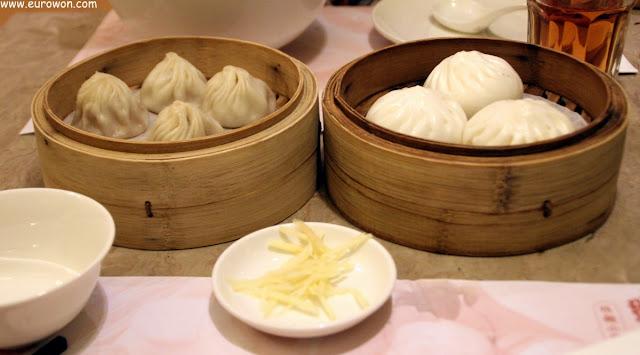 Dumplings de cerdo al vapor