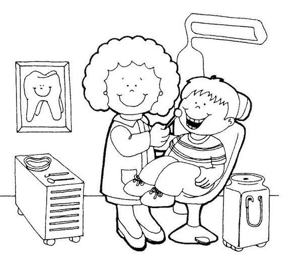 Dentista para colorear - Dibujo Views