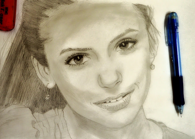 Sketch of Nina Dobrev