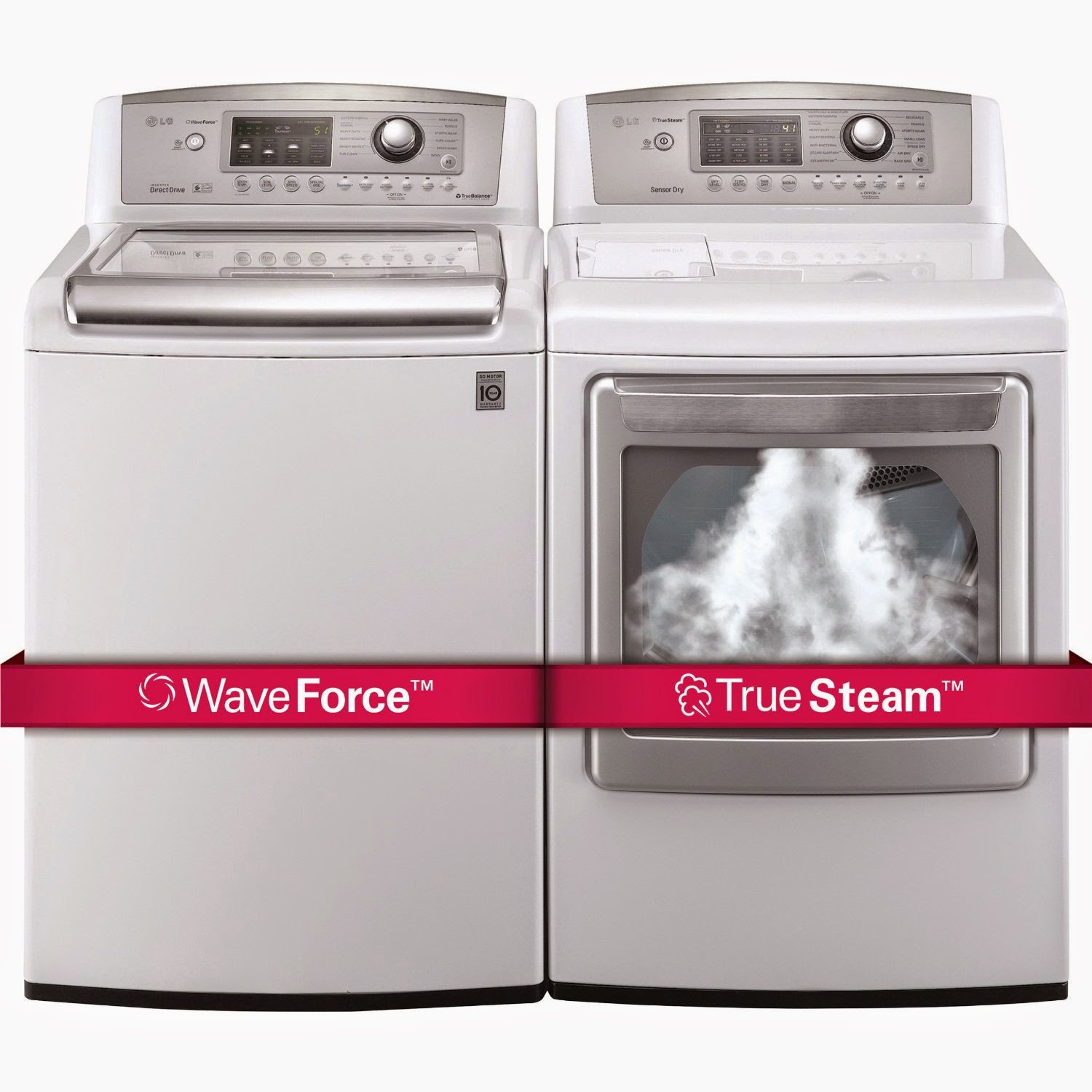 The best top load washer on the market - Lg Ultra Larg Top Load Laundry Pair With Waveforce Technology