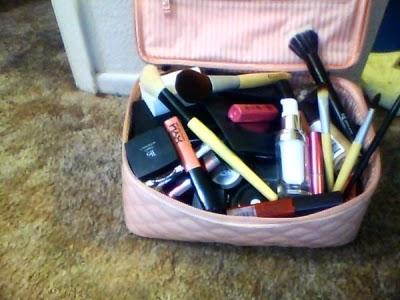 dirty makeup bag
