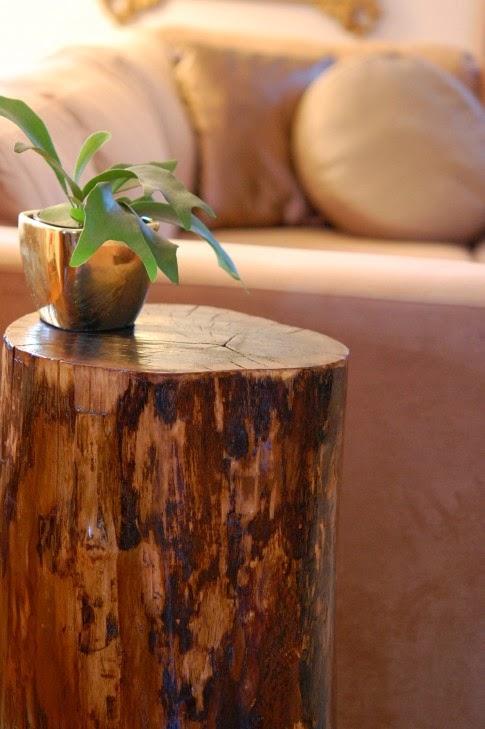 DIY Stump Side Table - magrush.com
