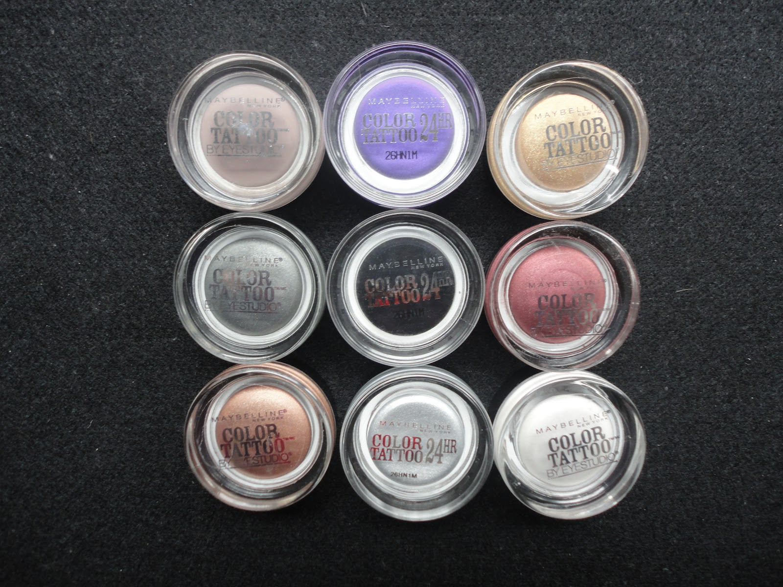 Review swatches maybelline color tattoo 24 hour cream for Maybelline color tattoo gel eyeshadow