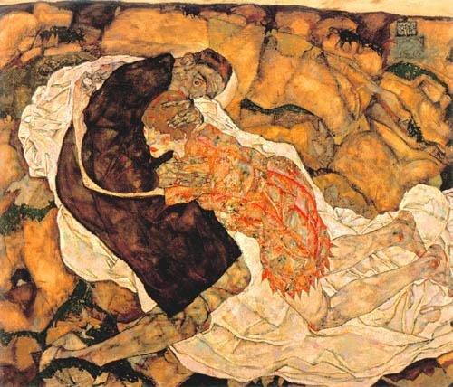Egon Schiele - La donna e la morte - 1915