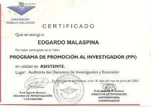 PROGRAMA DE PROMOCIÓN AL INVESTIGADOR
