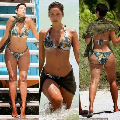 47-yr-old Nicole Murphy shows off banging curves in sexy bikini 647