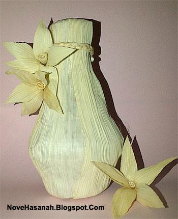 cara membuat vas bunga dari barang bekas dan sampah
