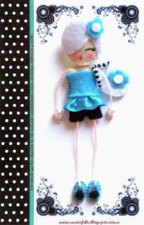 Susies, broches, fieltro, muñecas, handmade