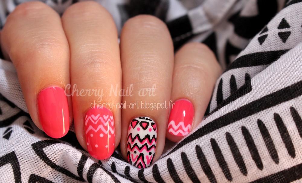 nail art azteque facile rapide au vernis
