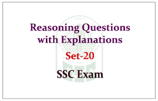 Reasoning Questions with Explanations for SSC Exam