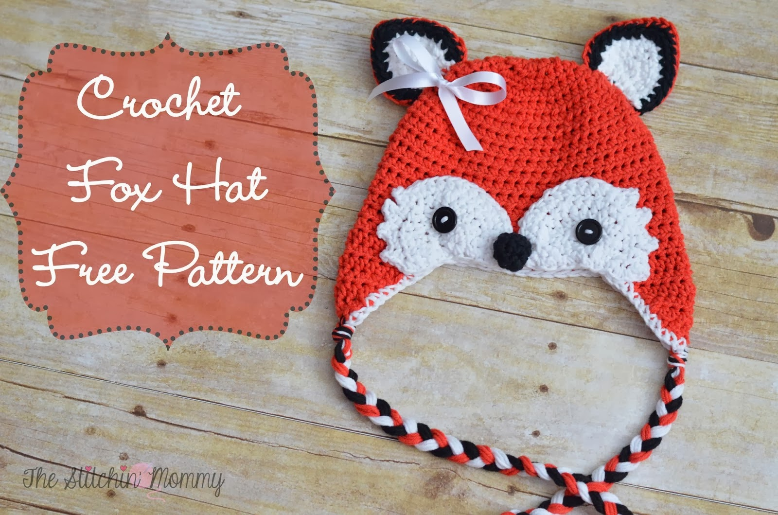 free crochet pattern toddler fox hat