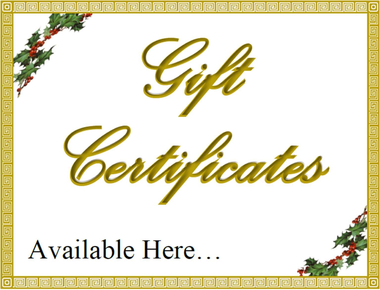 Welcome gift certificate xflitez Gallery