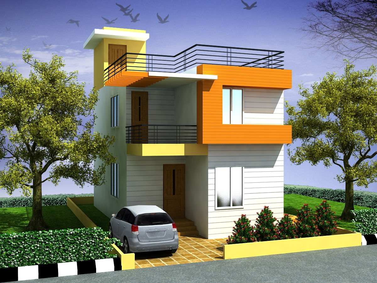Front elevation of duplex house joy studio design for Front view of duplex house in india