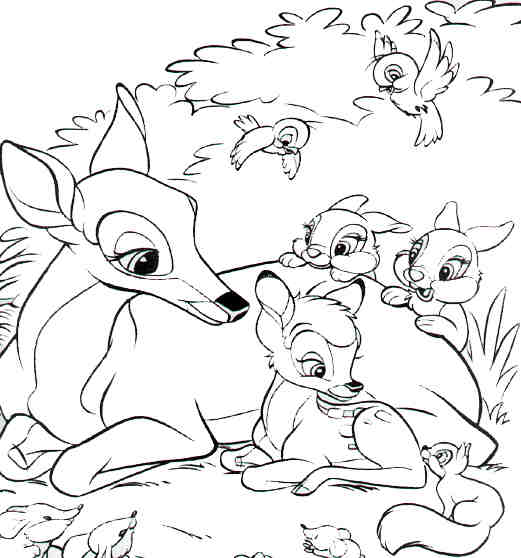 Desenho como desenhar Bambi pintar e colorir
