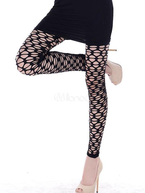 Couleur Noir Nylon Nets confortables femmes costumes
